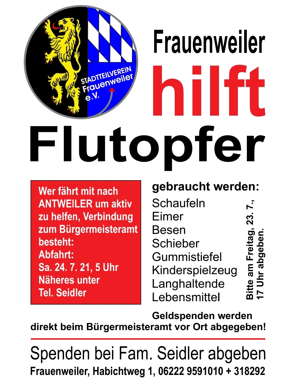 Frauenweiler hilft Flutopfer